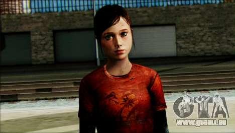 Ellie from The Last Of Us v1 pour GTA San Andreas troisième écran