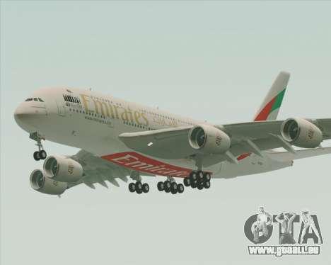 Airbus A380-800 Emirates 40 Anniversary Sticker pour GTA San Andreas vue de dessous