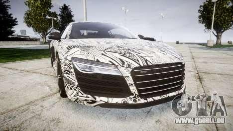 Audi R8 plus 2013 HRE rims Sharpie pour GTA 4