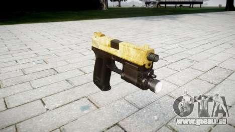Pistolet HK USP 45 or pour GTA 4