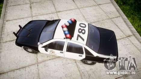 Chevrolet Caprice 1991 LAPD [ELS] Traffic für GTA 4 rechte Ansicht