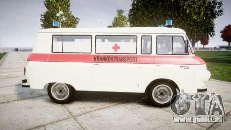 Barkas B1000 1961 Ambulance pour GTA 4 est une gauche