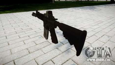 Tactique M4, fusil d'assaut Black Edition cible pour GTA 4 secondes d'écran