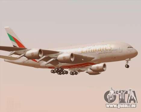 Airbus A380-800 Emirates 40 Anniversary Sticker pour GTA San Andreas vue de côté