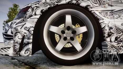 Mitsubishi Lancer Evolution IX Sharpie für GTA 4 Rückansicht
