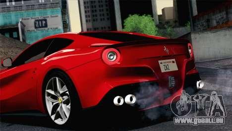 Ferrari F12 Berlinetta 2013 pour GTA San Andreas vue de droite