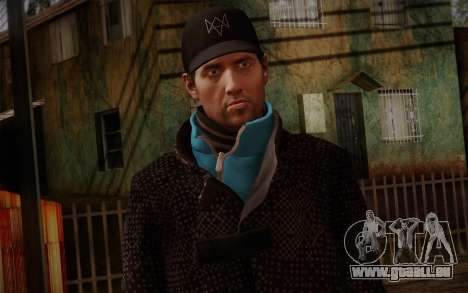 Aiden Pearce from Watch Dogs v9 pour GTA San Andreas troisième écran