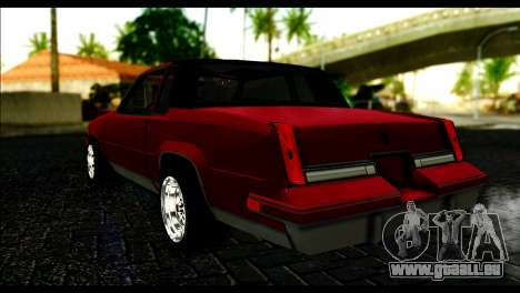 Oldsmobile Cutlass 1987 Beta für GTA San Andreas linke Ansicht
