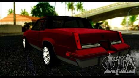 Oldsmobile Cutlass 1987 Beta pour GTA San Andreas laissé vue