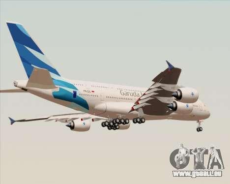 Airbus A380-800 Garuda Indonesia pour GTA San Andreas vue de dessous