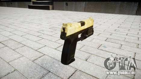 Pistole HK USP 45 gold für GTA 4 Sekunden Bildschirm