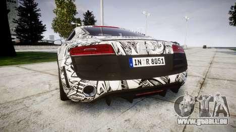 Audi R8 plus 2013 Wald rims Sharpie pour GTA 4 Vue arrière de la gauche