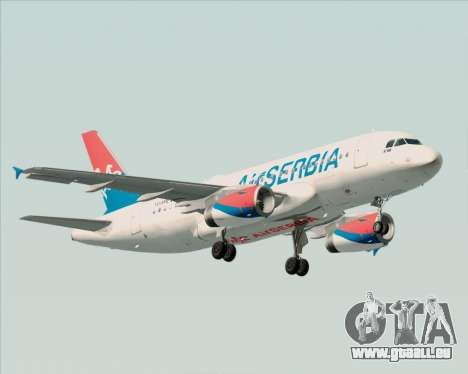 Airbus A319-100 Air Serbia für GTA San Andreas linke Ansicht