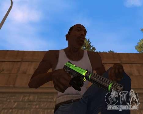 Chrome Green Weapon Pack für GTA San Andreas