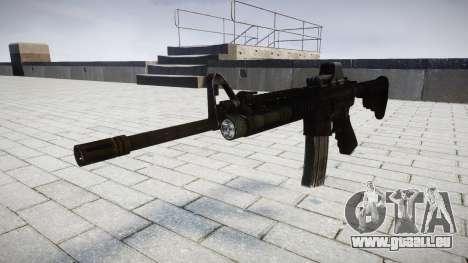 Tactique M4, fusil d'assaut Black Edition cible pour GTA 4