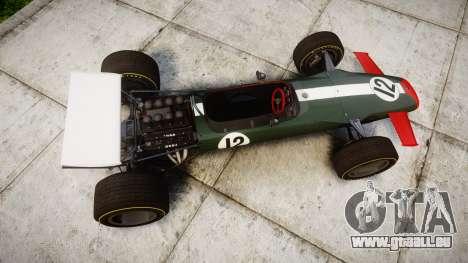 Lotus Type 49 1967 [RIV] PJ11-12 für GTA 4 rechte Ansicht