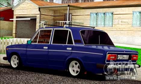 ВАЗ 2106 à la russe pour GTA San Andreas sur la vue arrière gauche
