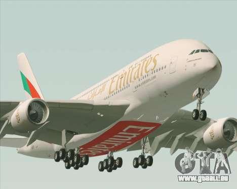 Airbus A380-800 Emirates 40 Anniversary Sticker pour GTA San Andreas moteur
