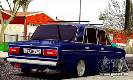 ВАЗ 2106 à la russe pour GTA San Andreas vue de droite