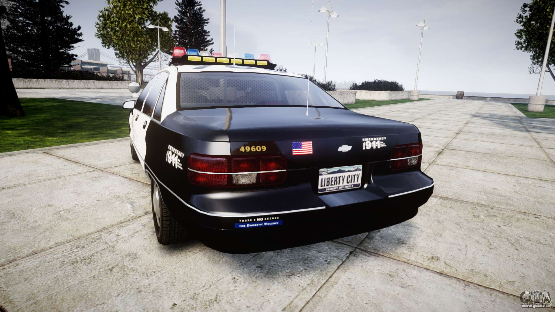 Chevrolet Caprice 1991 Lapd Els Traffic Pour Gta 4