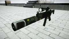 Tactique pistolet mitrailleur MP5 cible
