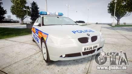 BMW 525d E60 2006 Police [ELS] für GTA 4