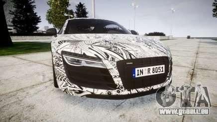 Audi R8 plus 2013 Wald rims Sharpie pour GTA 4