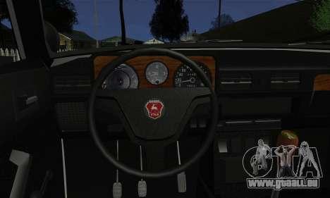 GAZ 3102 Volga - Shérif pour GTA San Andreas sur la vue arrière gauche