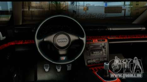 Audi S4 B5 Avant pour GTA San Andreas vue arrière