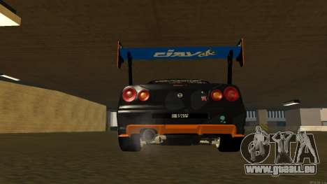 Nissan Skyline R34 FAIL CREW 2014 pour GTA San Andreas vue intérieure