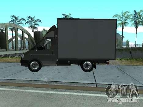 GAZel 3302 pour GTA San Andreas sur la vue arrière gauche