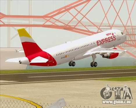 Airbus A320-200 Iberia Express für GTA San Andreas Unteransicht