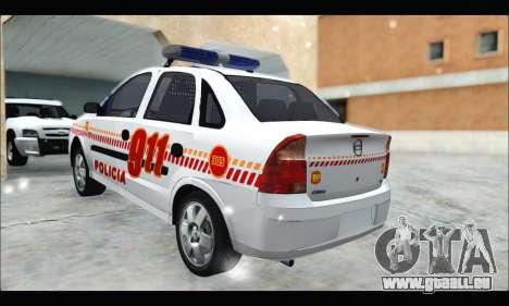 Chevrolet Corsa Premium Policia de Salta pour GTA San Andreas laissé vue