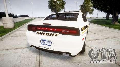 Dodge Charger 2013 Sheriff [ELS] v3.2 pour GTA 4 Vue arrière de la gauche