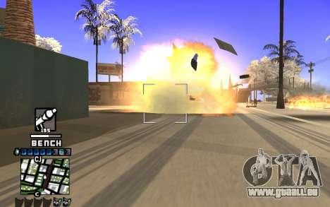 C-HUD Bench pour GTA San Andreas troisième écran