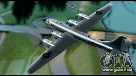 B-29 Superfortress pour GTA San Andreas sur la vue arrière gauche