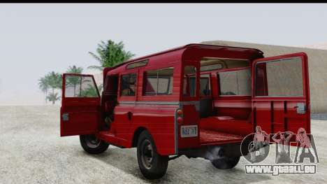 Land Rover Series IIa LWB Wagon 1962-1971 pour GTA San Andreas vue intérieure