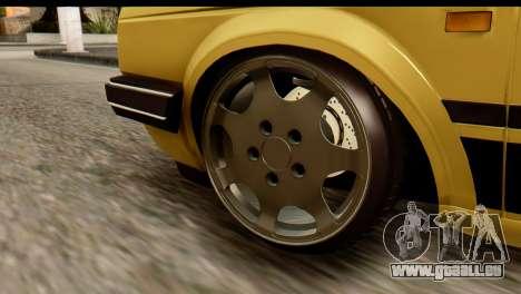 Volkswagen Jetta A2 Coupe pour GTA San Andreas sur la vue arrière gauche