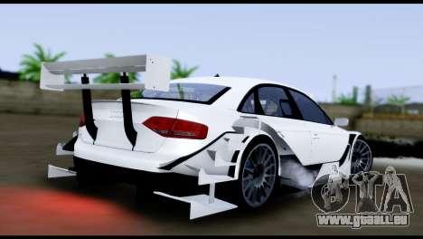Audi A4 2008 Touring pour GTA San Andreas laissé vue