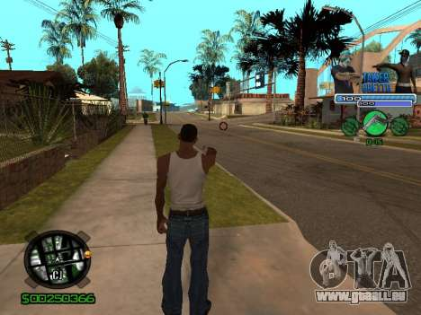 С-Hud Tawer-Ghetto v1.6-Classic für GTA San Andreas