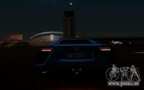 Lexus LF-A 2010 pour GTA San Andreas vue de dessous