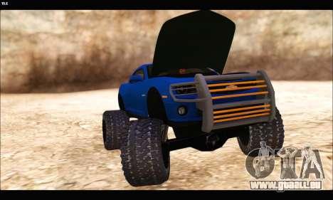 Chevrolet Camaro SUV Concept pour GTA San Andreas vue intérieure