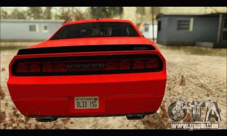 Dodge Challenger SRT-8 2010 v2.0 für GTA San Andreas rechten Ansicht