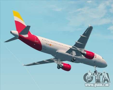 Airbus A320-200 Iberia Express für GTA San Andreas obere Ansicht