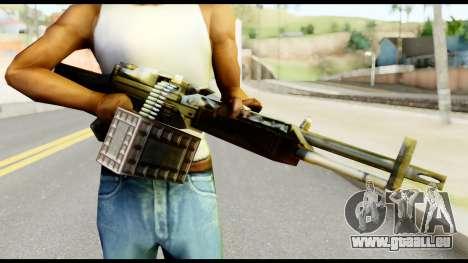 M63 from Metal Gear Solid pour GTA San Andreas troisième écran