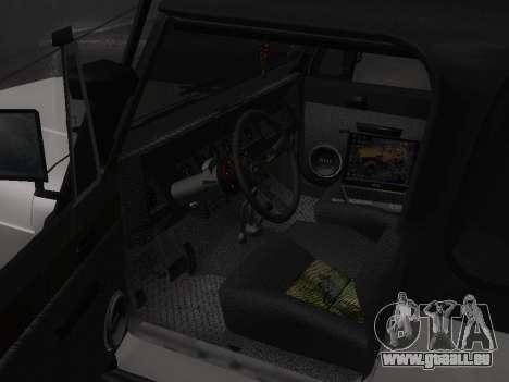 Jeep Wrangler 1986 Trophy für GTA San Andreas Rückansicht