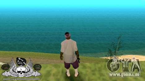 C-HUD Ghetto Chambre pour GTA San Andreas troisième écran