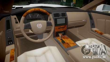 Cadillac XLR-V 2009 für GTA 4 Rückansicht