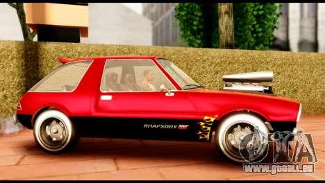 Declasse Rhapsody from GTA 5 IVF für GTA San Andreas linke Ansicht