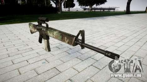 Le M16A2 fusil [optique] woodland pour GTA 4